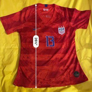 Alex Morgan 13 Nike Dri Fit USA 2019 Jersey XL